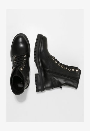 TREND-STIEFELETTE SCHNÜR-BOOTS - Lace-up ankle boots - schwarz
