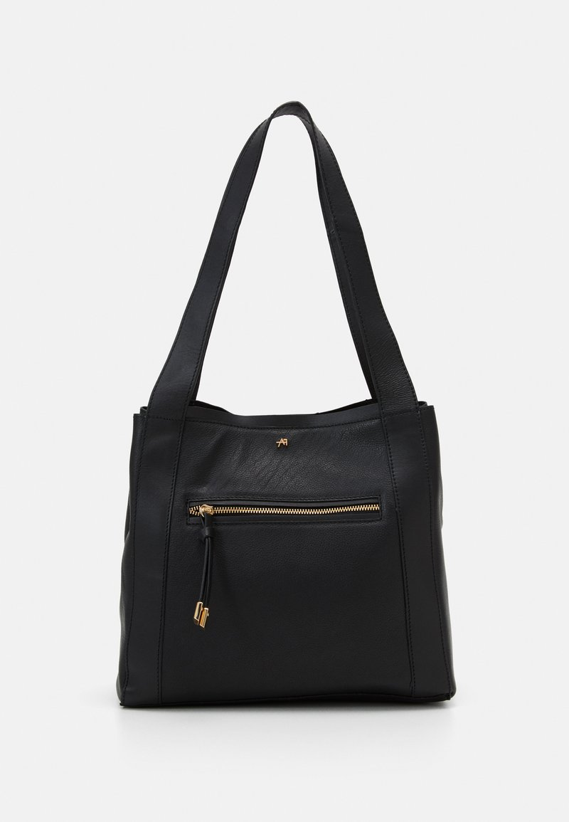 Anna Field - LEATHER - Handbag - black
