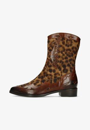 Cowboy/biker ankle boot - multicolor
