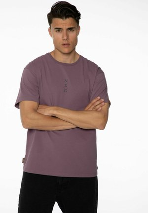 PENNAL - Print T-shirt - marron fabric