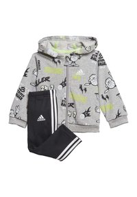 adidas Performance - FRENCH TERRY GRAPHIC TRACKSUIT - Tuta - grey - 8