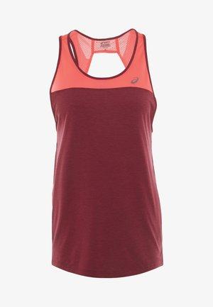 LOOSE STRAPPY TANK - Camiseta de deporte - chili flake/laser pink