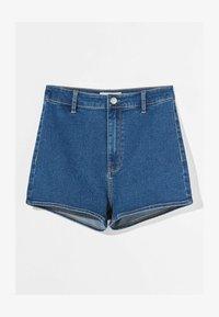 Bershka - Denim shorts - dark blue - 4