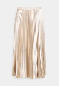 Opus - RURY - Pleated skirt - pebble stone