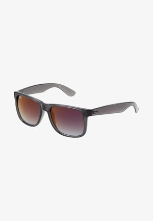 Sunglasses - trasparent grey/grey gradient/mirror red