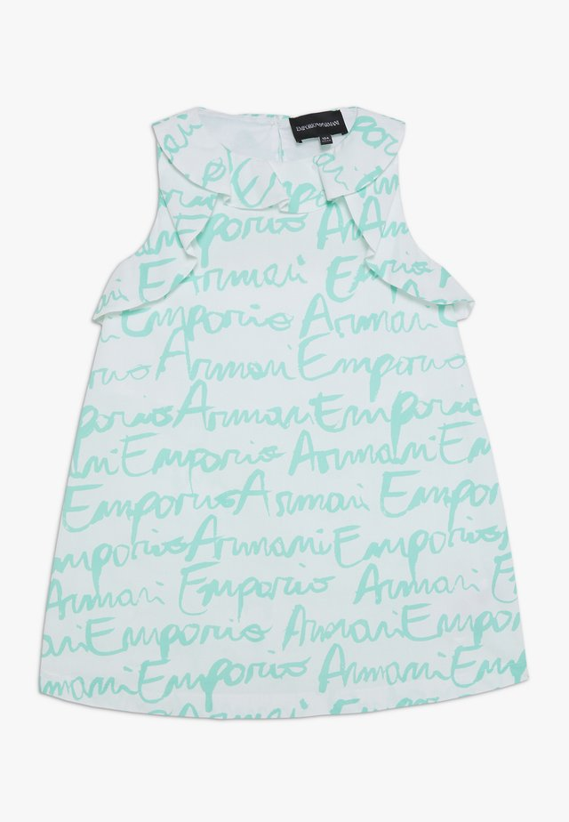 VESTITO - Cocktail dress / Party dress - white/turquoise