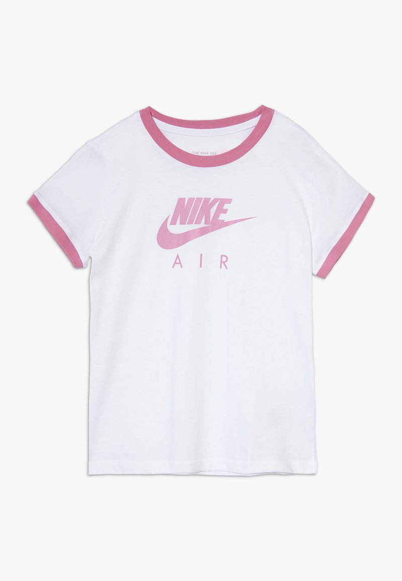 Nike Sportswear - TEE AIR LOGO RINGER - Camiseta estampada - white/magic flamingo