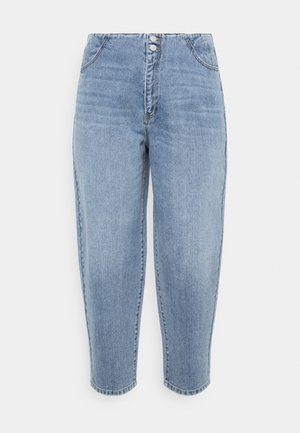 VMIDA BARREL CUTLINE - Relaxed fit jeans - light blue denim