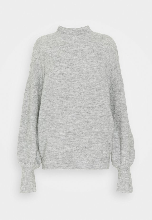 VMSIMONE HIGHNECK - Strikkegenser - light grey melange