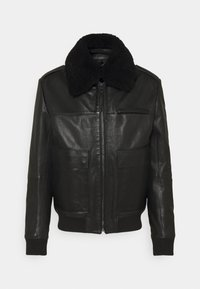HUGO - LYAN - Leather jacket - black - 5