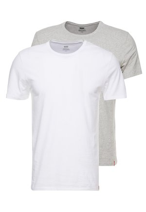 SLIM CREWNECK 2 PACK - Basic T-shirt - white/heather grey