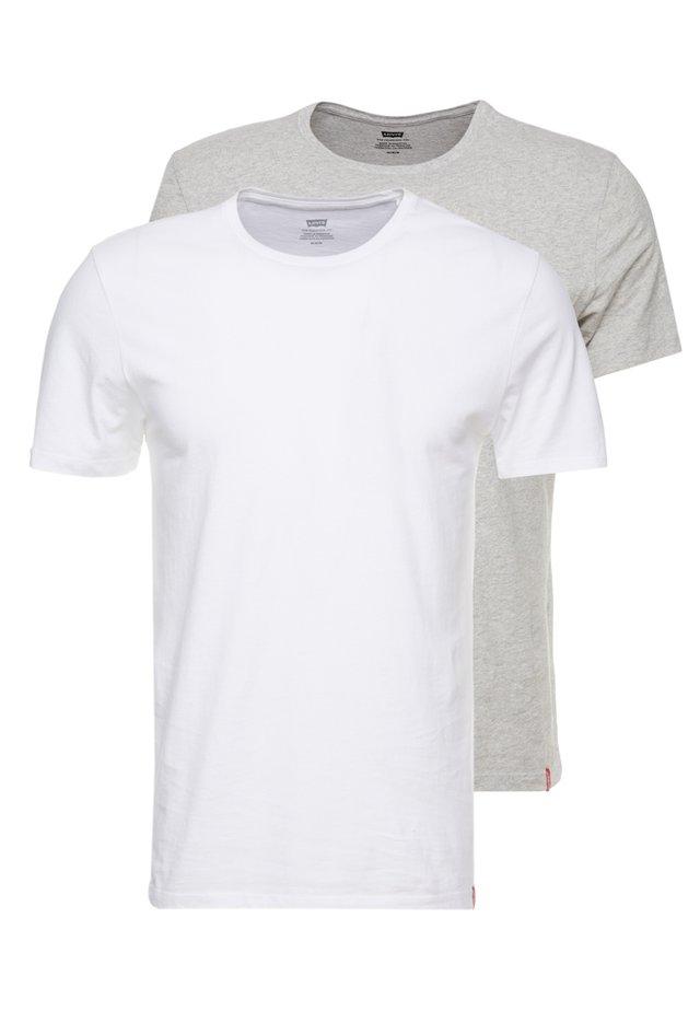 CREWNECK 2 PACK - Print T-shirt - white/heather grey