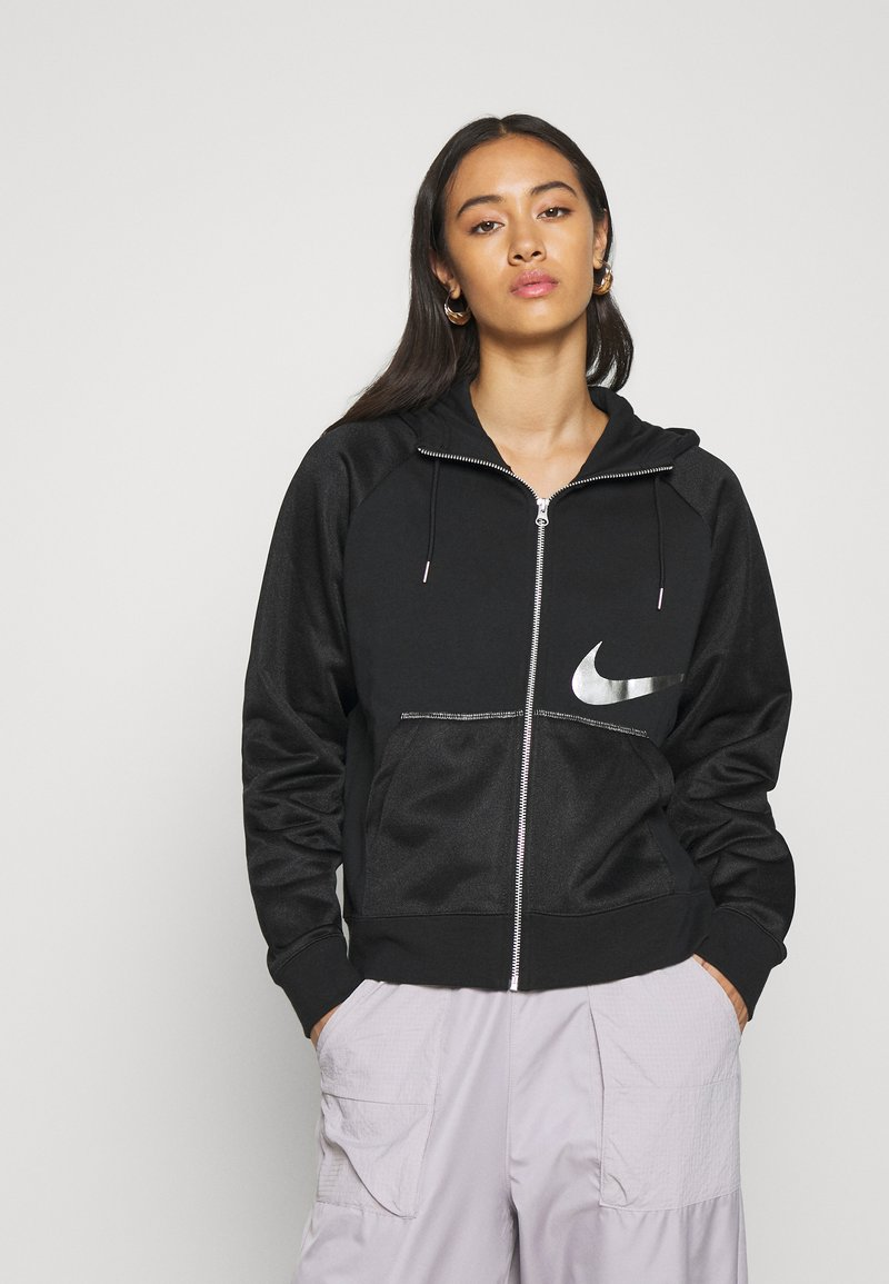 Nike Sportswear - Sweatjacke - black/metallic silver