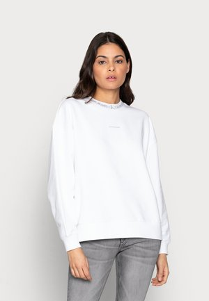 LOGO TRIM CREW NECK - Sweatshirt - white