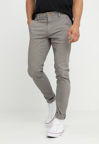 Blend - SLIM FIT - Pantalones chinos - granite - 0