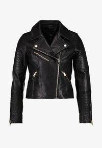 River Island Petite - CATO JACKET - Faux leather jacket - black - 4