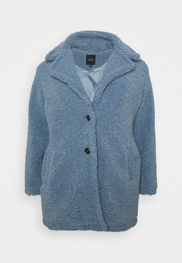 TEDDY COAT - Classic coat - dusky blue