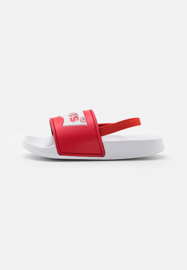 POOL MINI UNISEX - Sandály - white/red