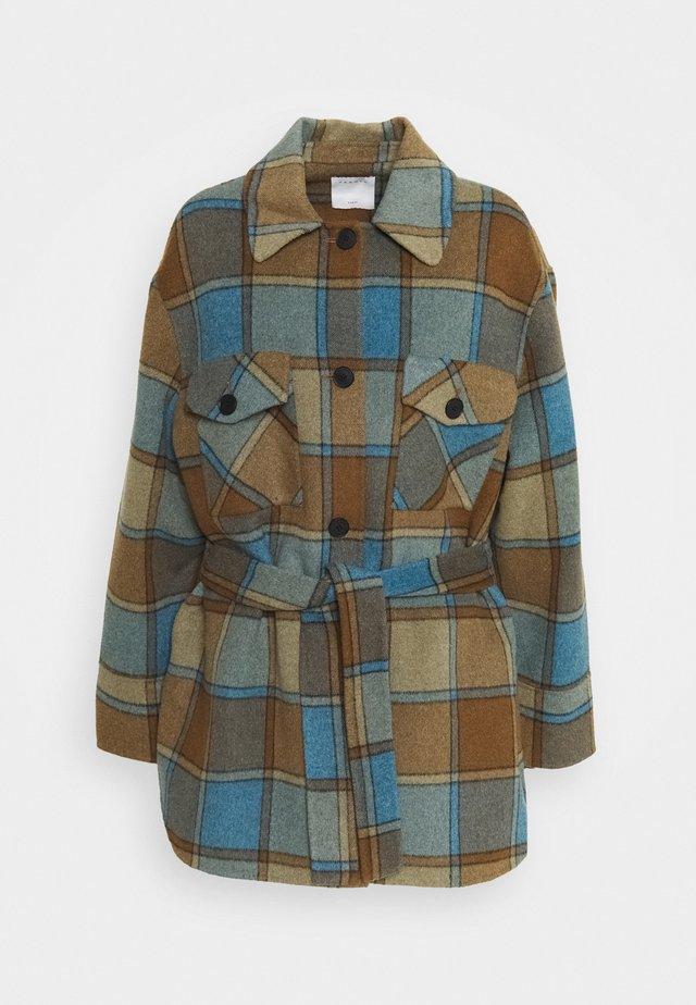 OVANA - Classic coat - marron/bleu pétrole