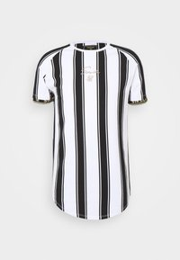SIKSILK - STRIPE TEE - T-shirt con stampa - black/white - 3
