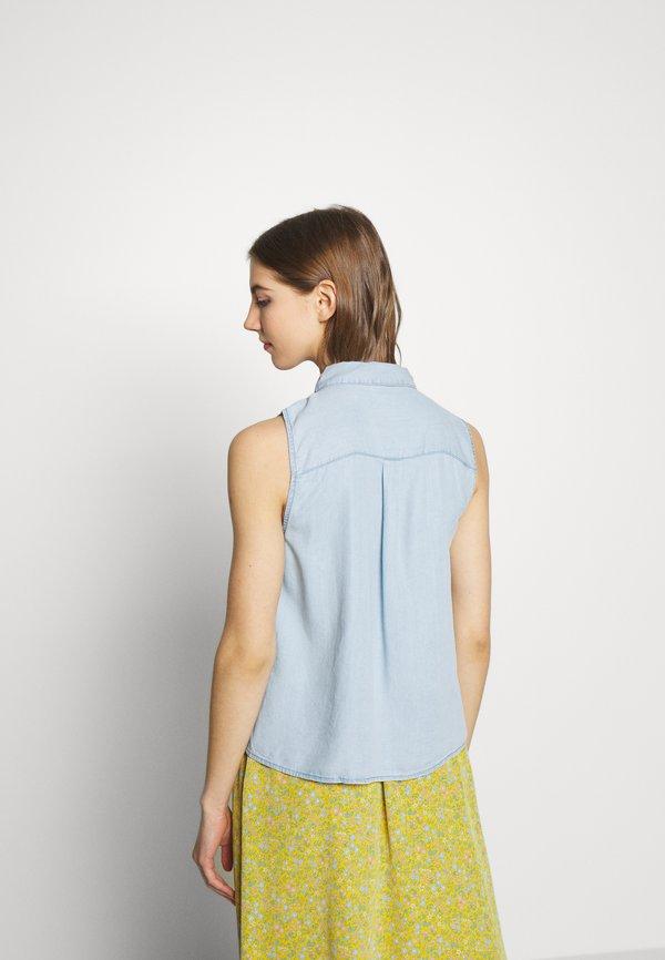 Noisy May NMDANNY ENDI - Koszula - light blue denim/jasnoniebieski PQVV