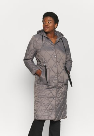ADJUSTABLE QUILTED COAT - Parka - charcoal