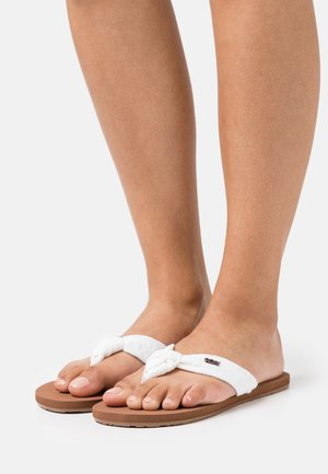 PAIA - T-bar sandals - white/chocolate