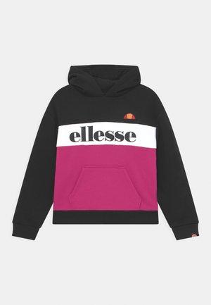 CHELINA OVERSIZED HOODY - Sweatshirt - black/pink