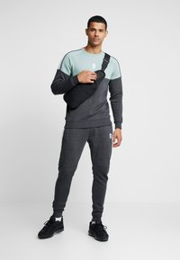 Gym King - CREA TRACKSUIT BOTTOMS - Pantalones deportivos - charcoal marl/green mist/white - 1