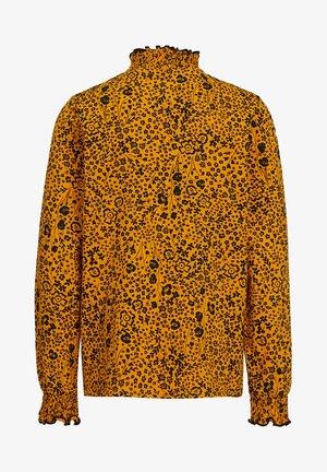 MET BLOEMENDESSIN - Langærmede T-shirts - ochre yellow