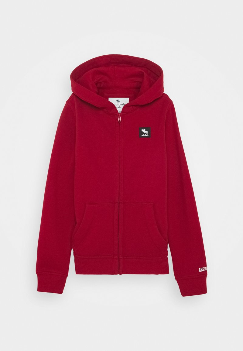 Abercrombie & Fitch - Mikina na zip - red