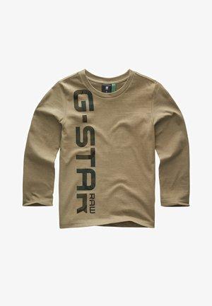 G-STAR RAW PRINT LONG SLEEVES T-SHIRT - Langærmede T-shirts - kaki green