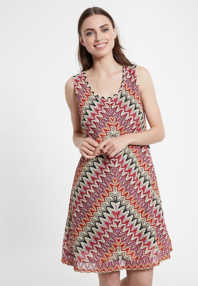 Gebreide jurk - mehrfarbig