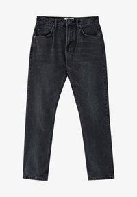 PULL&BEAR - Straight leg -farkut - mottled dark grey - 5
