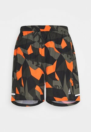 RUN IT CAMO - Korte sportsbukser - olive