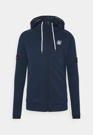 EXPOSED TAPE ZIP THROUGH HOODIE - veste en sweat zippée - navy