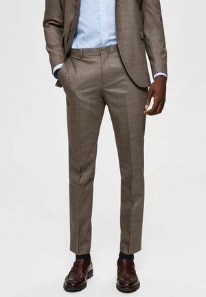 Suit trousers - brownie