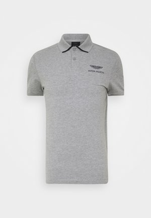 TAPE SHOULDER - Polo - grey marl