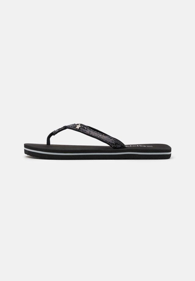 GLITTER INFINIT - Sandalias de dedo - black