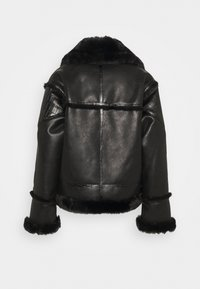 The Kooples - FOURRURE - Imitatieleren jas - black - 1