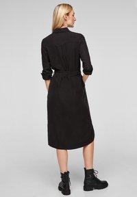 s.Oliver - Shirt dress - black - 2