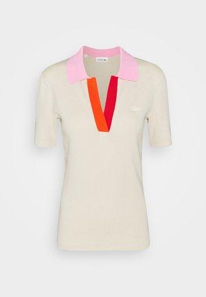 Print T-shirt - sabler/pinkish/red/gladiolus