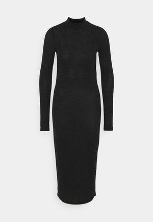 NMCRISTINA HIGH NECK  - Pouzdrové šaty - black