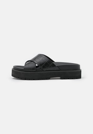 VEGAN RAMIRA - Pantofle na podpatku - black