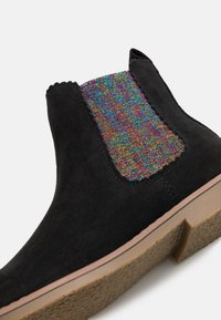 Cotton On - SCALLOP GUSSET BOOT - Classic ankle boots - washed black/rainbow scallop - 5