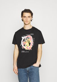 Night Addict - RIKU UNISEX - Printtipaita - black - 0