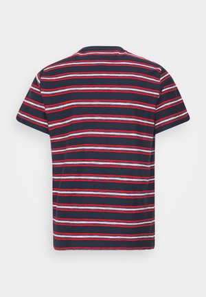 STRIPE TAB TEE - T-shirts print - twilight navy