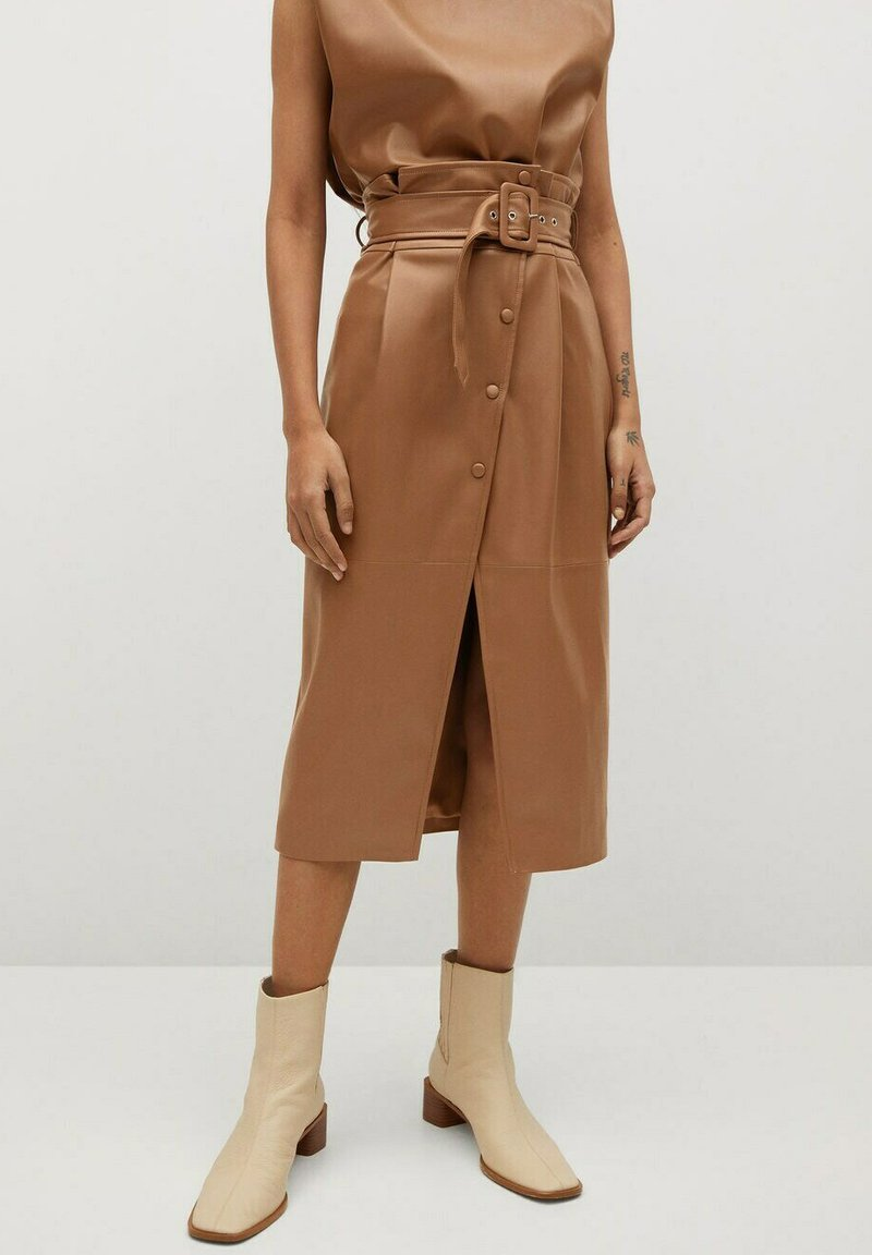 Mango - CARLO-I - Wrap skirt - marron