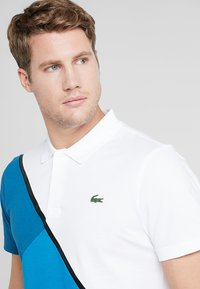 Lacoste Sport - TENNIS BLOCK - Piké - white/sumatra/illumination/black - 3