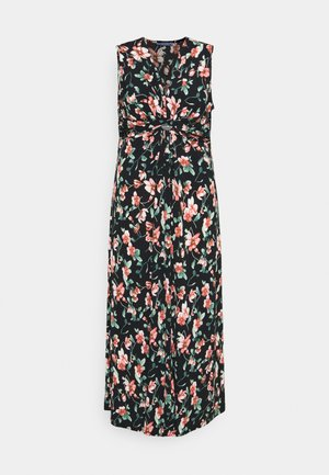 Maxi dress - black/pink/dark green